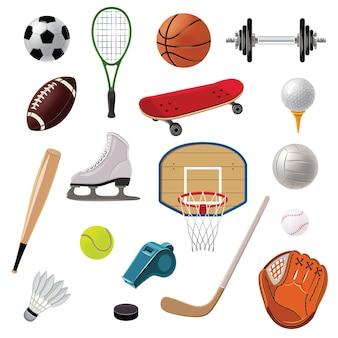 Набор иконок спортивного инвентаря