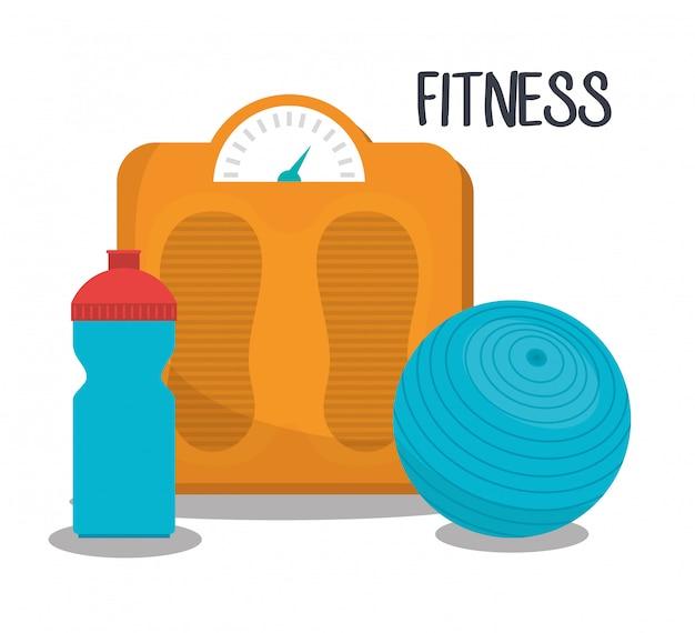 Спорт фитнес иллюстрация
