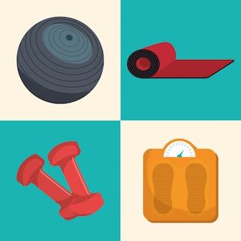 Sports fitness illustration