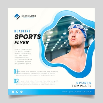Sports flyer with swimmer