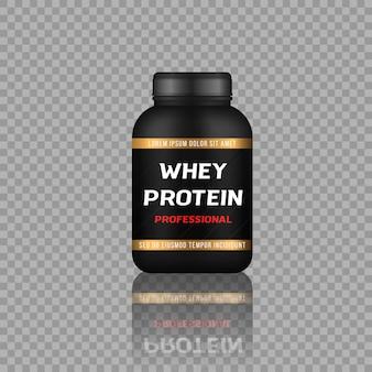 스포츠 음식 병 및 저당 단백질 바.