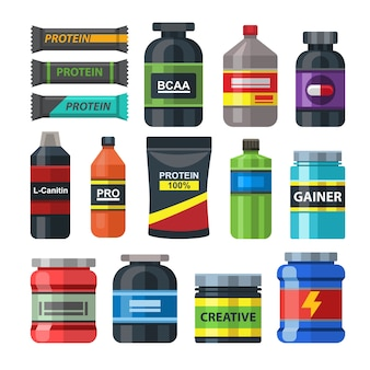 Sports food gym nutrition packs set