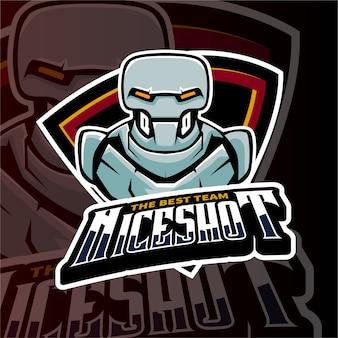 Sports gaming logo robots shooter