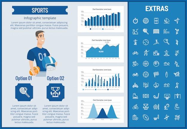 스포츠 infographic 템플릿, 요소 및 아이콘