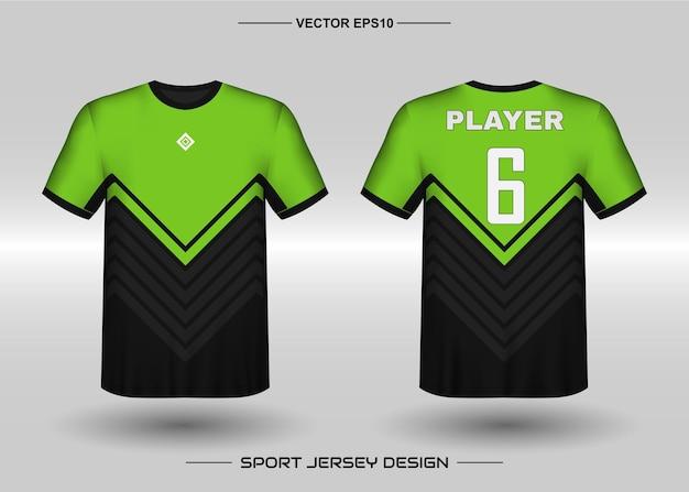 축구 팀을위한 스포츠 저지 디자인 서식 파일