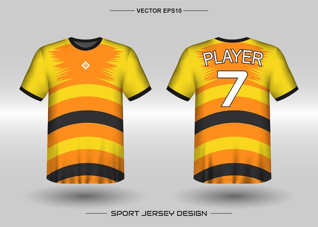 Шаблон дизайна спортивной майки для футбольной команды