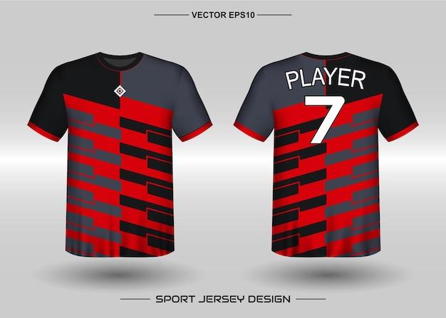 サッカーチームのスポーツジャージデザインテンプレート