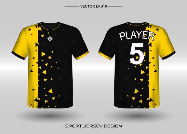 Шаблон дизайна спортивного трикотажа для футбольной команды