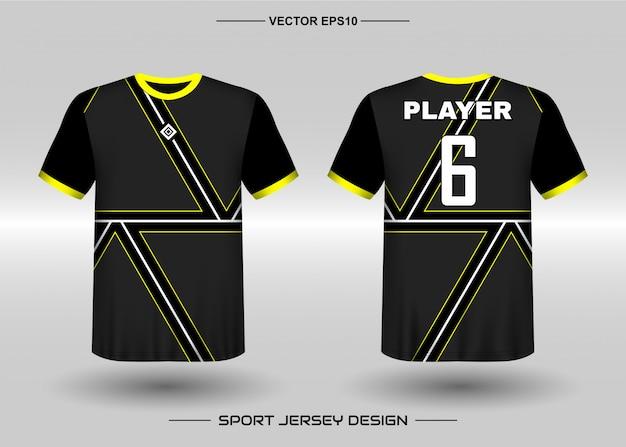 Шаблон дизайна спортивной майки для униформы команды