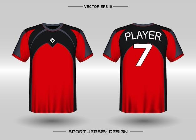 Premium Vector   Sports jersey design template for soccer team