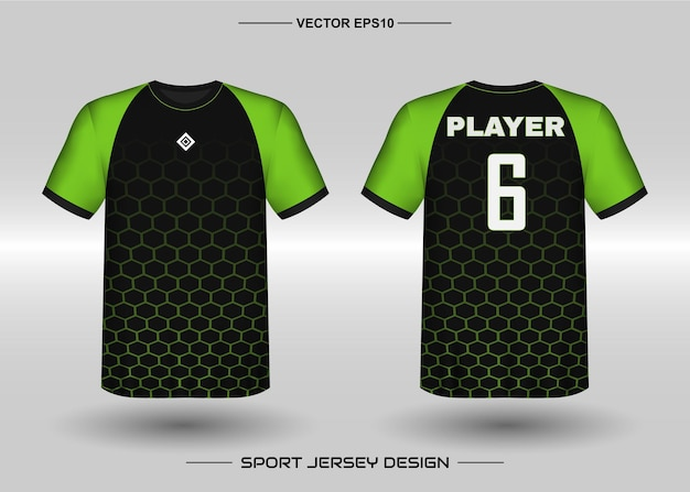 Sports jersey design template for soccer team