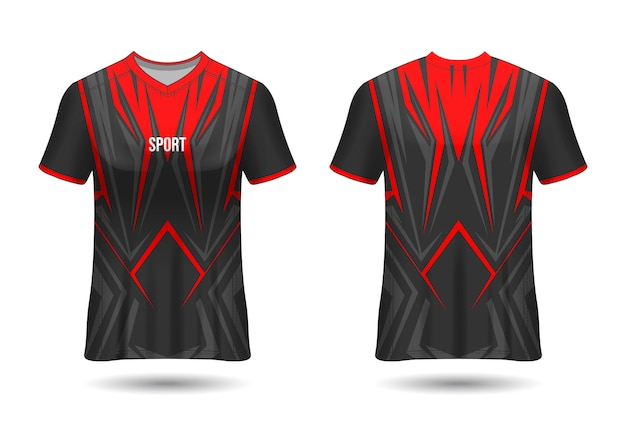 Sports jersey design template for team uniforms vector