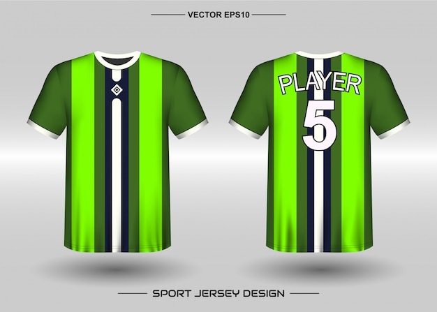 Sports jersey design template for team uniforms