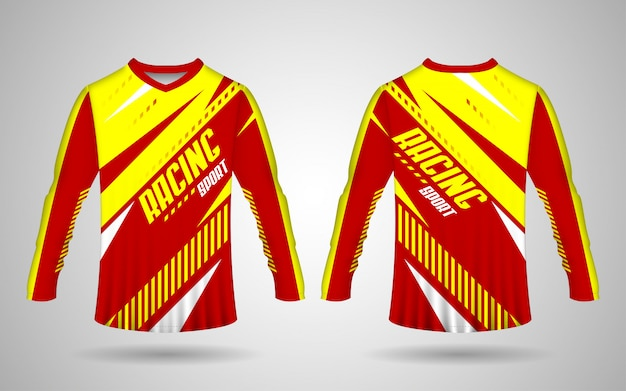 Sports jersey template, motorcycle jersey template
