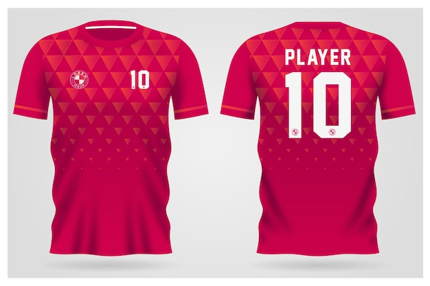Sports jersey template for team uniforms and soccer t shirt design