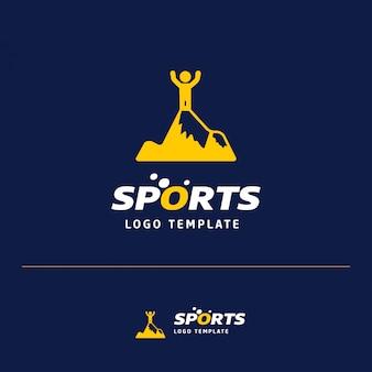 Sports logo man on mountain