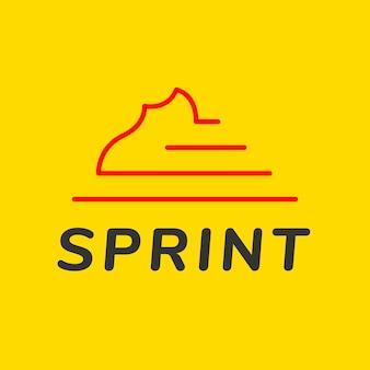 Modello di logo sportivo, vettore grafico del marchio aziendale moderno