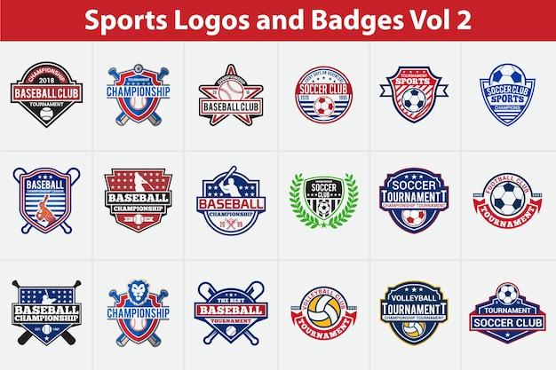 スポーツのロゴとバッジ