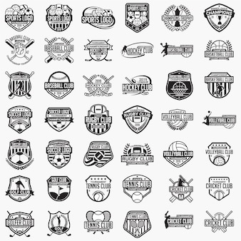 Sports logos badges