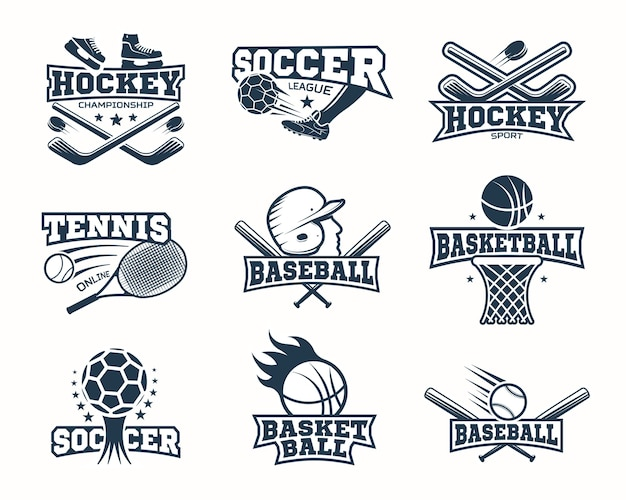 Sports monochrome logos