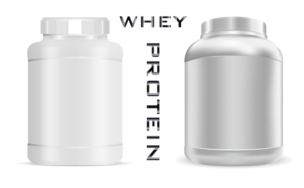 Sports nutrition can. protein bottle.