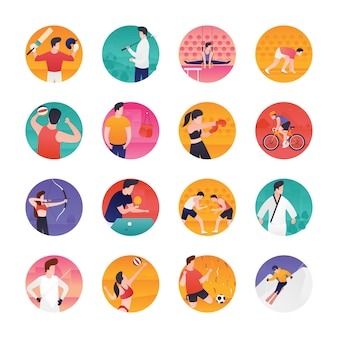 Sports and olympic flat vectors pack