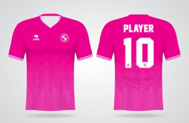 팀 유니폼 및 축구 t 셔츠 디자인을위한 스포츠 핑크 저지 템플릿