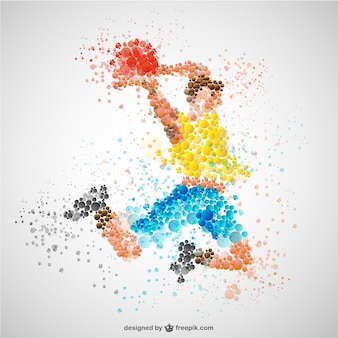 Sports player in competition vector
