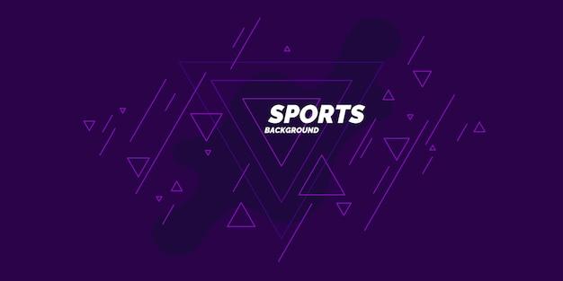 Спортивный плакат. абстрактные капли и геометрические фигуры на фоне. векторная иллюстрация