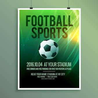 Абстрактный вектор футбол спорт листовка постер шаблон дизайна в векторе