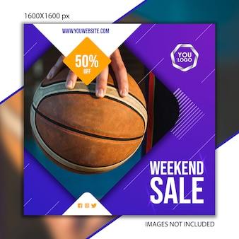 Спортивное издание баскетбол для социальной сети Premium векторы