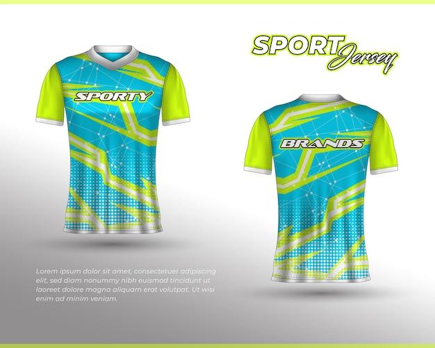 スポーツレーシングジャージのデザインフロントバックtシャツのデザインチームユニフォームのテンプレート