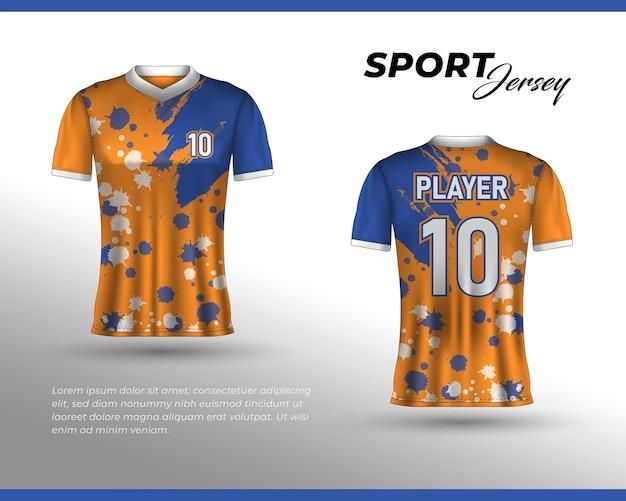 스포츠 레이싱 저지 디자인 프론트 백 티셔츠
