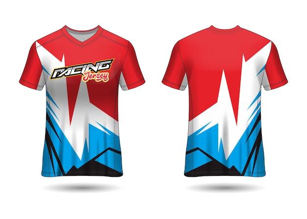 チームユニフォームのスポーツレーシングジャージデザインテンプレート
