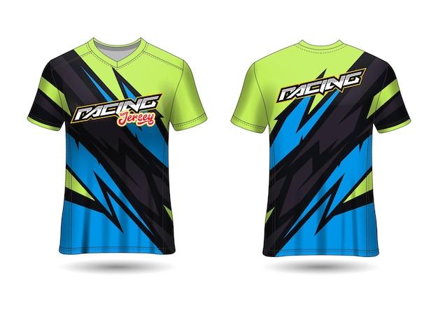 팀 유니폼을위한 스포츠 레이싱 저지 디자인 템플릿