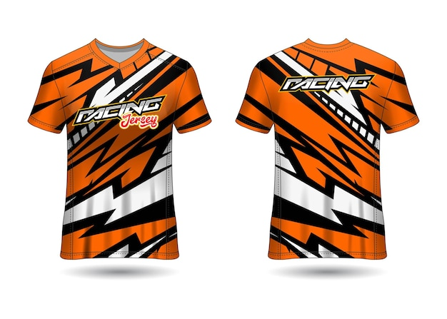 Sports racing  jersey design template for team uniforms