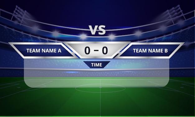Полоски спортивного табло или шаблон нижней трети с отображением результатов и времени