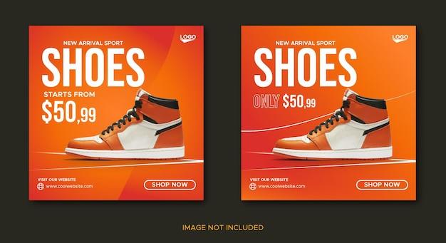 Sports shoes social media banner and instagram post design