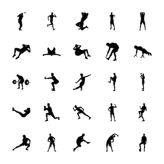 Sports silhouettes vectors set