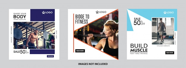Sports social media post collection templates