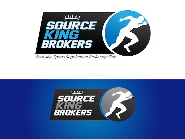 Sports supplement brokerage firm logo Premium Vector