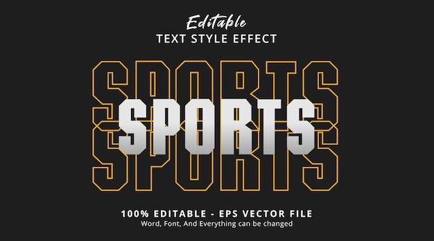 誇大広告のレイヤードスタイル効果、編集可能なテキスト効果に関するスポーツテキスト