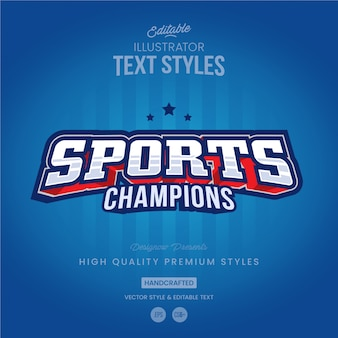 Sports text style