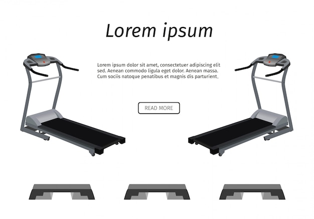 Sports trainer apparatus . two running tracks and three steps  .