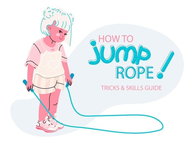 縄跳びのスポーティな少女漫画スタイル