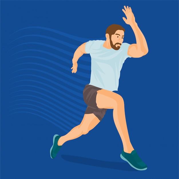 Sporty man running