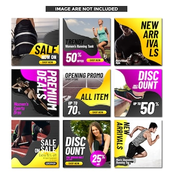 Sporty template social media for sport shop and promotion