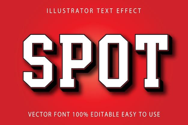 Spot  editable text effect