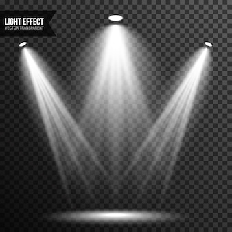 Spot light illumination stage vector transparent