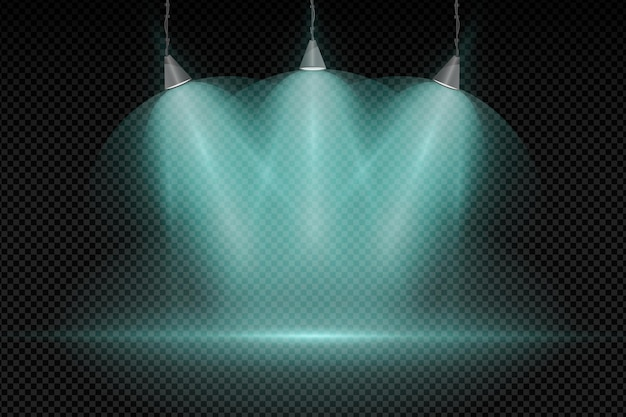 Spot lights background concept
